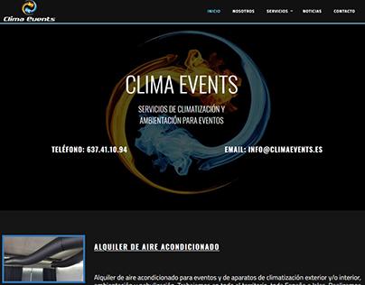 Web, SEO y SEM de Actual.cat para Clima Events