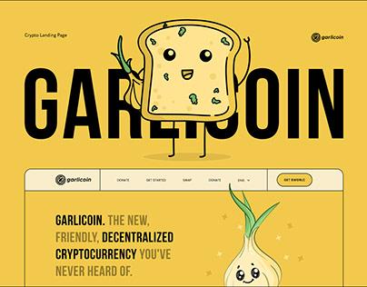 Garlicoin - Crypto Landin Page