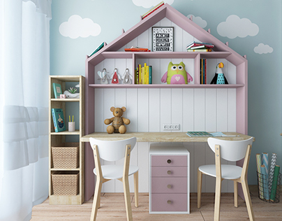Children's room for two sisters