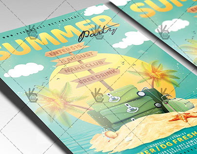 Summer Travel Party - Premium Flyer PSD Template
