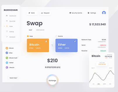 Blockchain Swaping panel