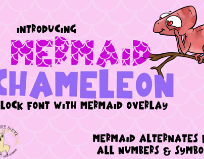Mermaid Angelfish With Scales Font