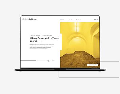 Galeria Labirynt Website design