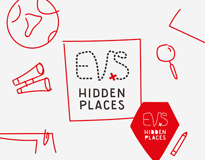 EVS Hidden Places logo & style guide