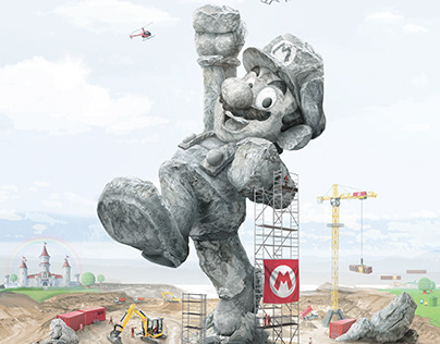 The Super Mario Statue I Concept Art