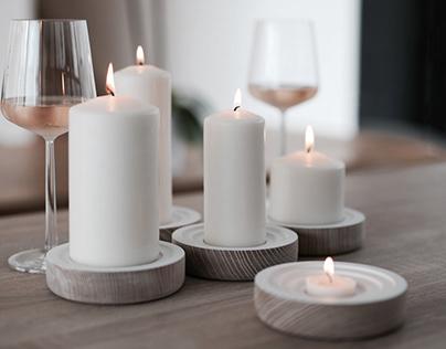 Wooden candleholder BOUGIE WOOGIE