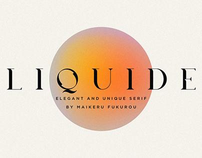 Liquide Typeface