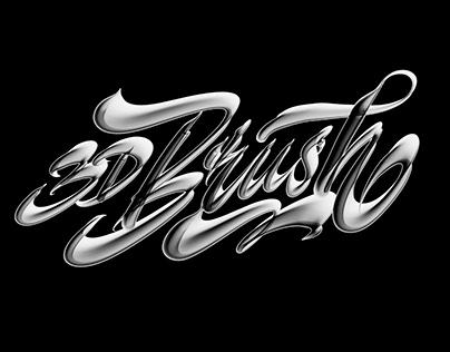 3D Brush for lettering in procreate