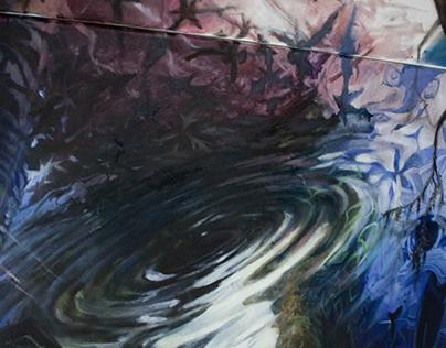 """""""Instinkt"""" -detail, Oil on canvas (KOPIE)"""