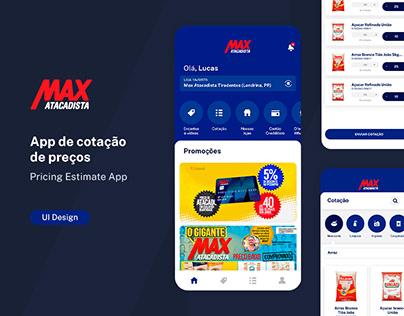 Max Atacadista - Pricing Estimate App