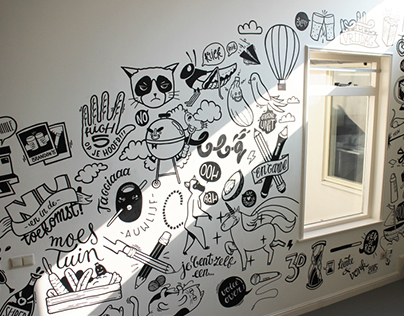 Mural at in60seconds office