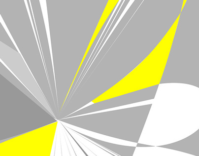 Yellow and Gray Abstract