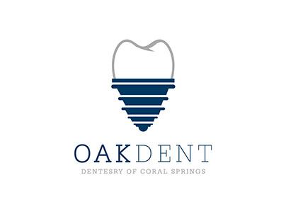 Oakdent logo شعار عيادة البلوط