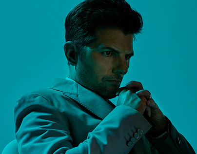 Adam Scott editorial photoshoot