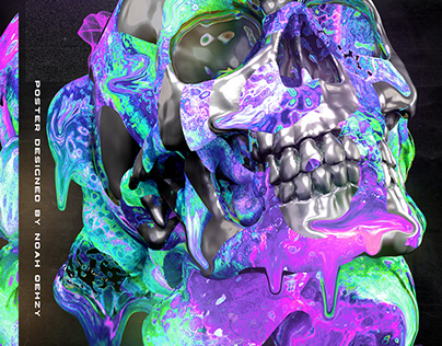 How to Create an Abstract Dripping Skull Poster