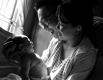 Đạt - Hạnh family. A day of little Tín Phúc baby