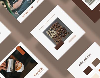 Free coffee shoop instagram template