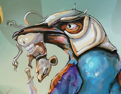 Studies of Abyssinian roller (sketches+concept)