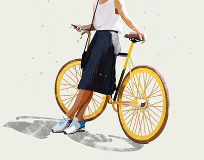 | bike girl |