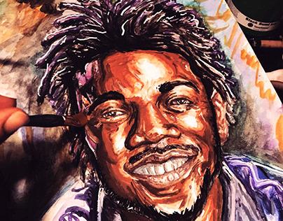Happy rapper portrait