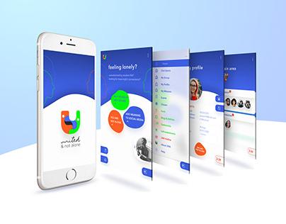 United & Not Alone - Mobile UI Design & Visual Campaign