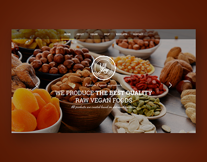Website design for shop with vegan dishes