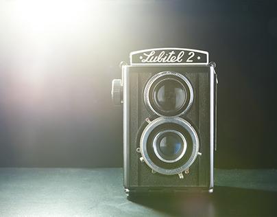 Retro cameras studio photos