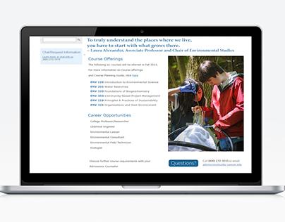 School Website Design - B.S. in Environmental Science