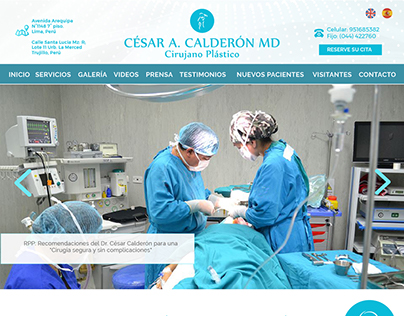 Web Mockup for Dr. Cesar Calderón