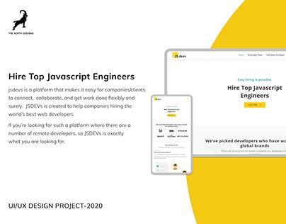 Jsdevs - Freelance Website UX/UI Deisgn