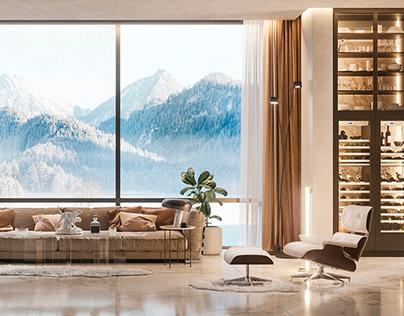 Mountain Chalet St. Moritz, Switzerland