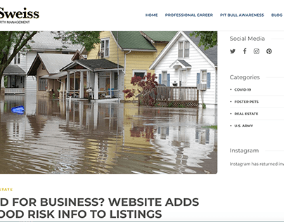 WEBSITE ADDS FLOOD RISK INFO TO LISTINGS