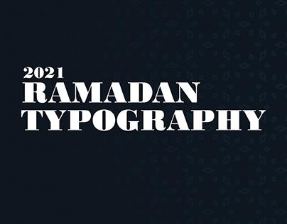 Ramadan Typography 2021