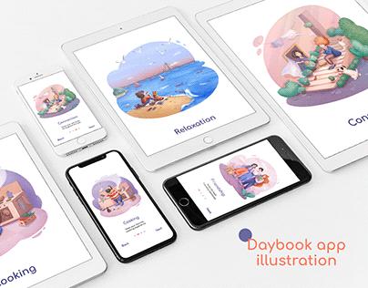 Daybook application illustration