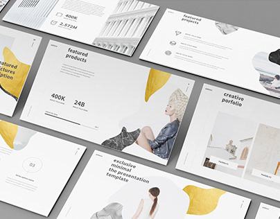 Creative and minimal design presentation