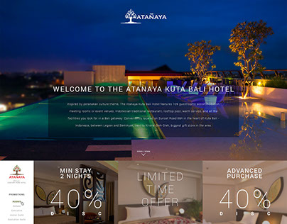The Atanaya Hotel Bali - Website Company Profile