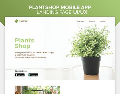 Plantshop mobile app landing page UI\UX