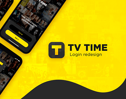 TV Time - Login screens Redesign
