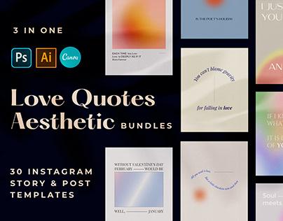 Love Quotes Aesthetic Instagram Templates