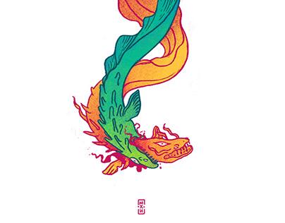 Dragon Eels Illustration + Tattoo