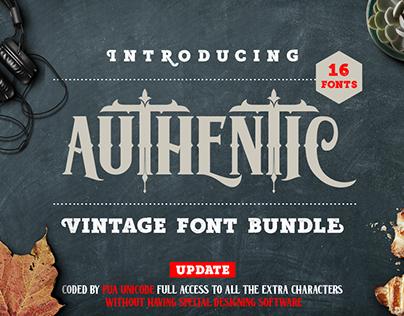 Authentic Vintage Font Bundle