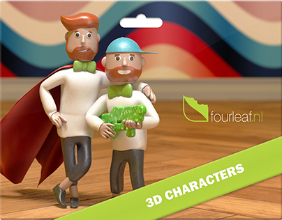 3D clay characters & animation