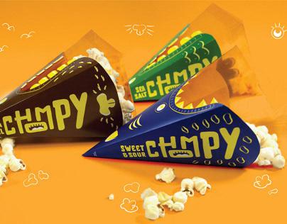 Chompy Popcorn Packaging
