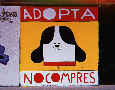 "Mural ""Adopta, no compres"""