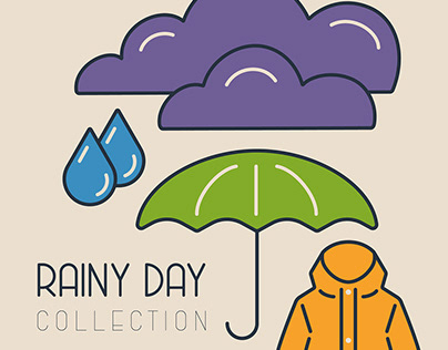 Rainy day icon collection