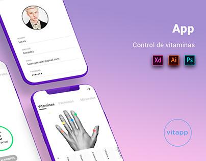 App - Control de vitaminas