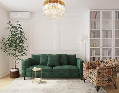 Квартира 60м2 в стиле французская современная классика