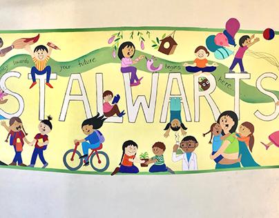 Stalwarts: School Wall Mural