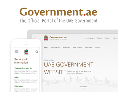 UAE Government Interaction and User interface redesign