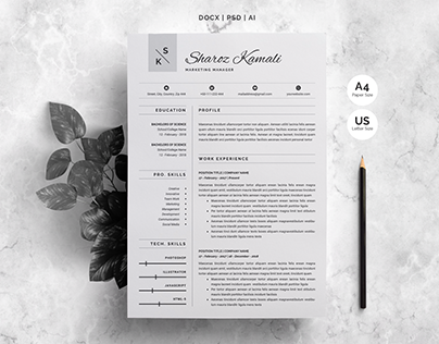 Resume Template | 4 Pages Pack